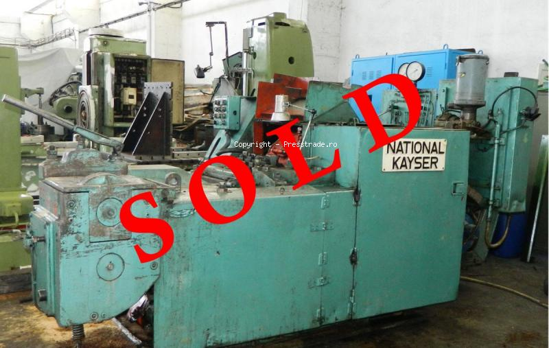 COLD NUT FORMING MACHINE NATIONAL-KAYSER M12 - SOLD