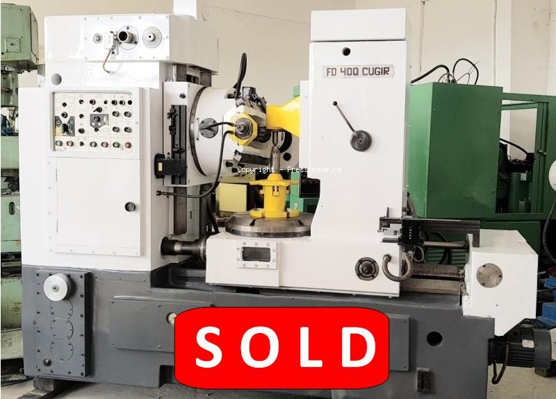 CUGIR FD 400 gear hobbing machine - SOLD